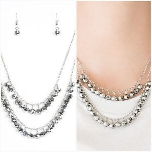STARLIGHT SAILING SILVER NECKLACE/EARRING SET